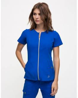 "Tunique Jaanuu ""Biker Top"" Bleu Royal"