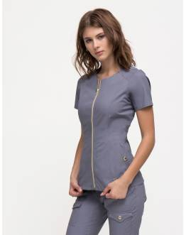 "Tunique Jaanuu ""Biker Top"" Gris Clair"