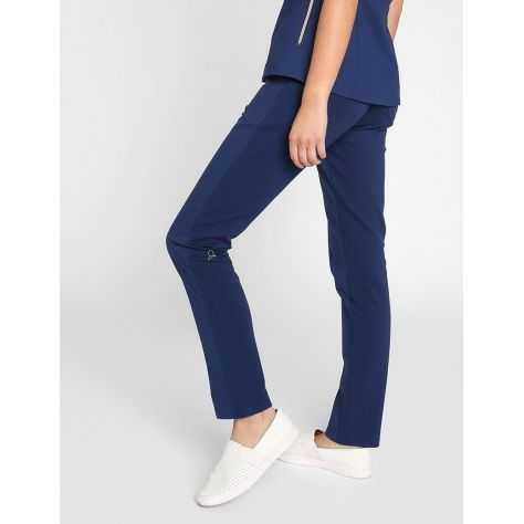 "Pantalon Jaanuu ""Contrast Ponte Pant"" Bleu Marine"