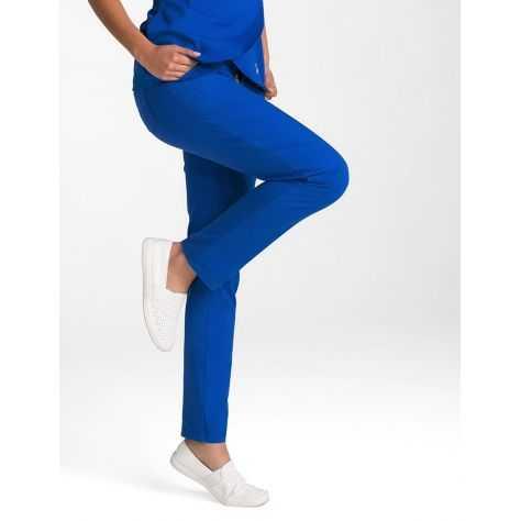 """Pantalon Jaanuu """"Contrast Ponte Pant"""" Bleu Royal"""