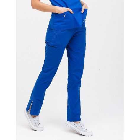 """Pantalon Jaanuu """"Moto Pant"""" Bleu Royal"""