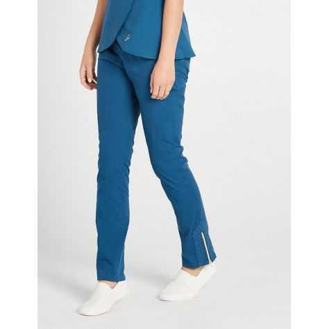 """Pantalon Jaanuu """"Moto Pant"""" Bleu Caraibe"""