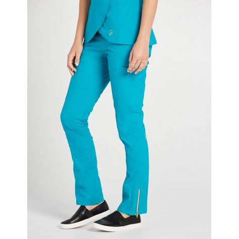"Pantalon Jaanuu ""Moto Pant"" Bleu Turquoise"