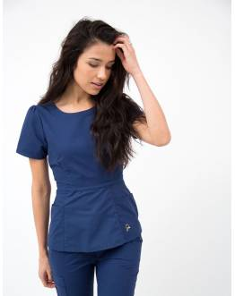 "Tunique Jaanuu ""Peplum Top"" Bleu Marine"