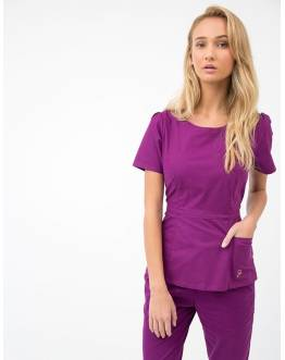 "Tunique Jaanuu ""Peplum Top"" Prune"