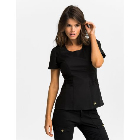 "Tunique Jaanuu ""Pintuck Top"" Noir"
