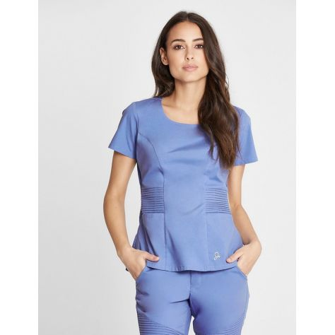 "Tunique Jaanuu ""Pintuck Top"" Bleu Ciel"