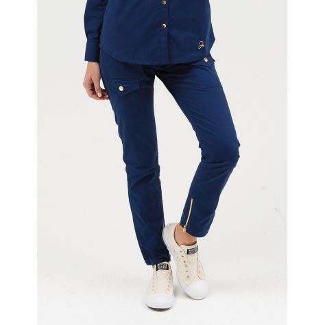 "Pantalon Jaanuu ""Skinny Cargo Pant"" Bleu Marine"