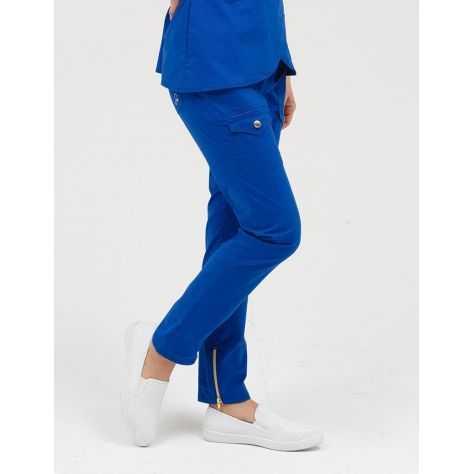 """Pantalon Jaanuu """"Skinny Cargo Pant"""" Bleu Royal"""