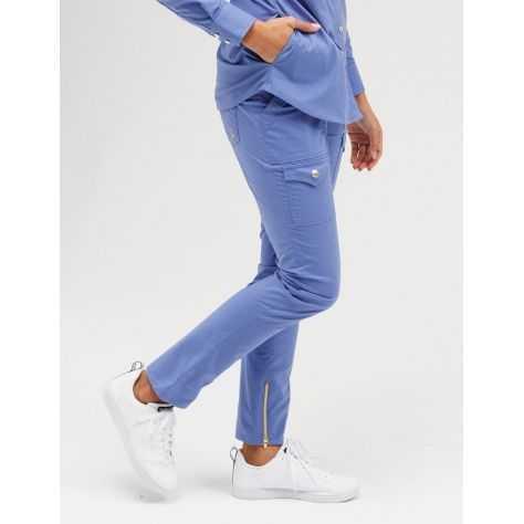 """Pantalon Jaanuu """"Skinny Cargo Pant"""" Bleu Ciel"""