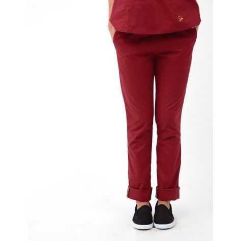 """Pantalon Jaanuu """"Skinny Pant"""" Bordeaux"""