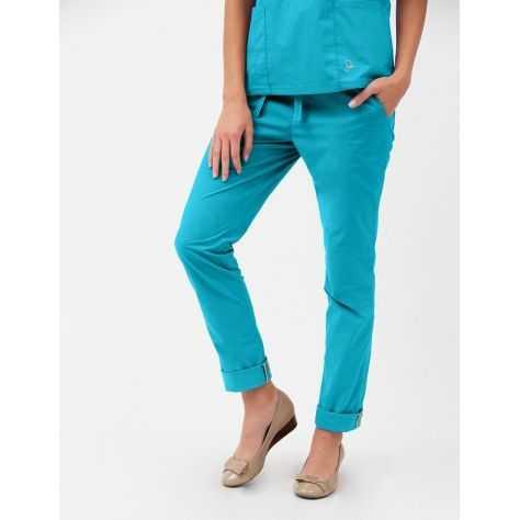 """Pantalon Jaanuu """"Skinny Pant"""" Bleu Turquoise"""