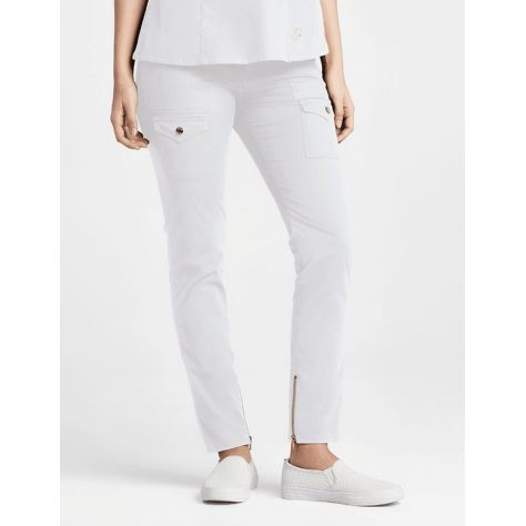 "Pantalon Jaanuu ""Skinny Cargo Pant"" Blanc"