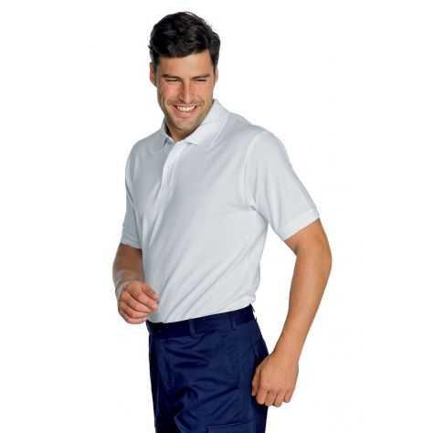 Polo Médical Unisexe 100% Coton Manches Courtes Blanc
