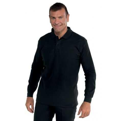 Polo Médical Unisexe 100% Coton Manches Courtes Noir