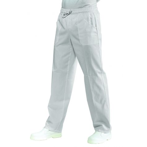 Pantalon unisexe Blanc 100% Coton