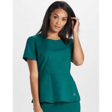 4cee6895263a4 Blouse médicale peplum femme couleur vert tunique medicale femme vert