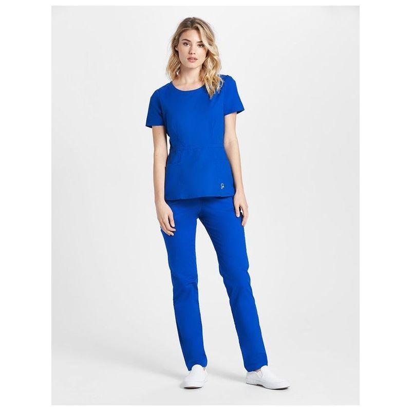 34330794801d4 Blouse médicale peplum femme couleur bleu royal tunique medicale femme