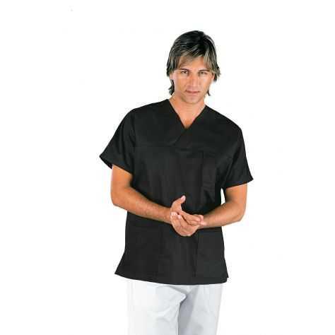 Casaque Médicale Unisexe Col V Noir