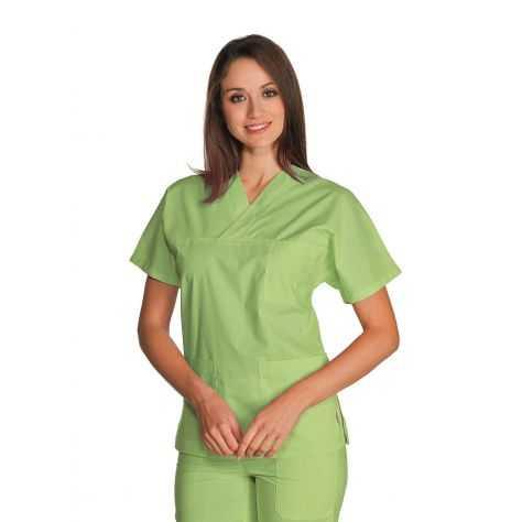 Casaque Médicale Unisexe Col V Vert anis