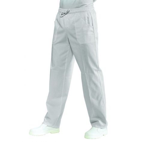 Pantalon unisexe Blanc PolyCoton