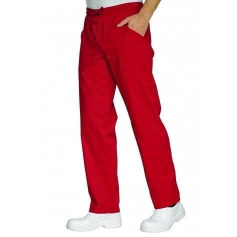 Pantalon unisexe Rouge PolyCoton