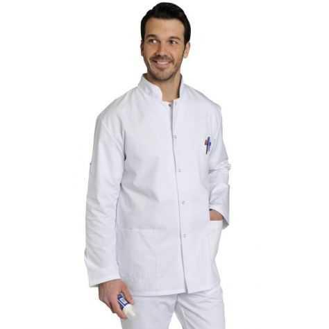 Blouse Médicale Homme Fabien Manches Longues Blanc