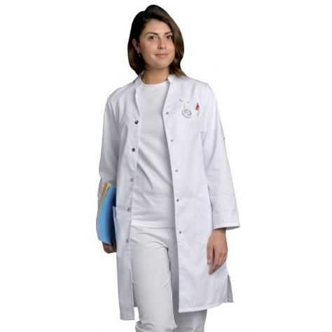 Blouse Femme Medicale Manche Longue Sarah Blanc