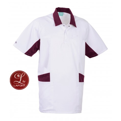 Tunique Lafont Clemix 2.0 Homme LUCA Blanc Prune