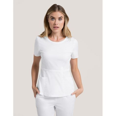"Tunique Jaanuu ""Peplum Top"" Blanc Collection Jolie"