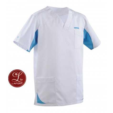 Tunique Lafont Clemix 2.0 Homme SANDRO Blanc Turquoise