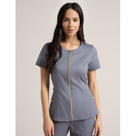 "Tunique Jaanuu ""Biker Top"" Gris Clair Collection Jolie"