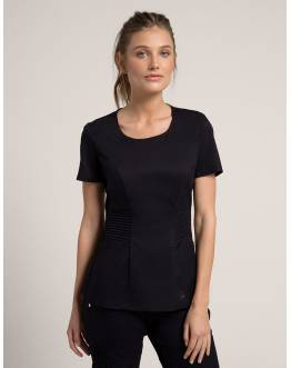 "Tunique Jaanuu ""Pintuck Top"" Noir Collection Jolie"