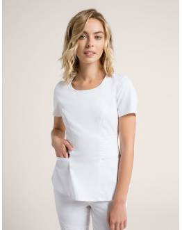 "Tunique Jaanuu ""Pintuck Top"" Blanc Collection Jolie"