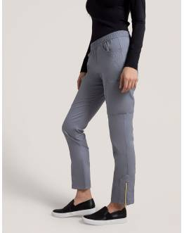 "Pantalon Jaanuu ""Moto Pant"" Gris Clair Collection Jolie"