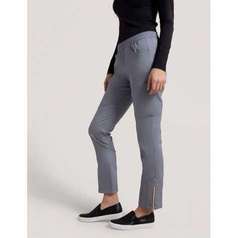 """Pantalon Jaanuu """"Moto Pant"""" Gris Clair Collection Jolie"""