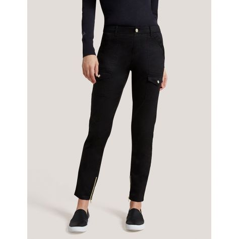 "Pantalon Jaanuu ""Skinny Cargo Pant"" Noir Collection Jolie"