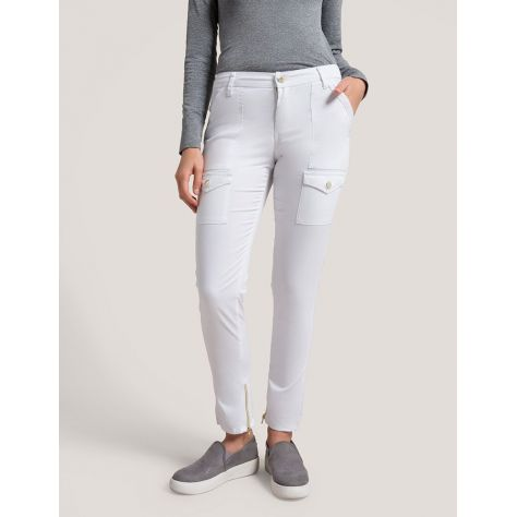 "Pantalon Jaanuu ""Skinny Cargo Pant"" Blanc Collection Jolie"