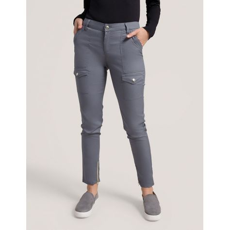 "Pantalon Jaanuu ""Skinny Cargo Pant"" Gris Clair Collection Jolie"
