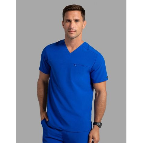"Tunique Jaanuu Homme ""Refined V-Neck Top"" Bleu Royal"