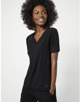 "Tunique Jaanuu ""Relaxed Cuff Sleeve Top"" Noir Collection Hudson"