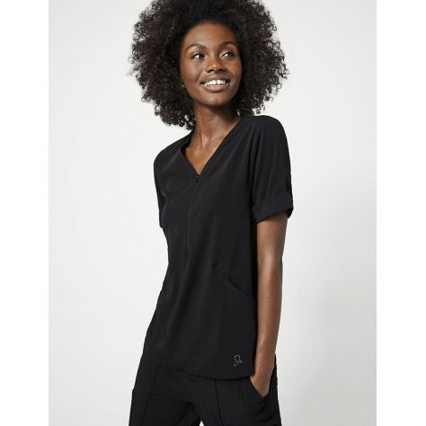 """Tunique Jaanuu """"Relaxed Cuff Sleeve Top"""" Noir Collection Hudson"""