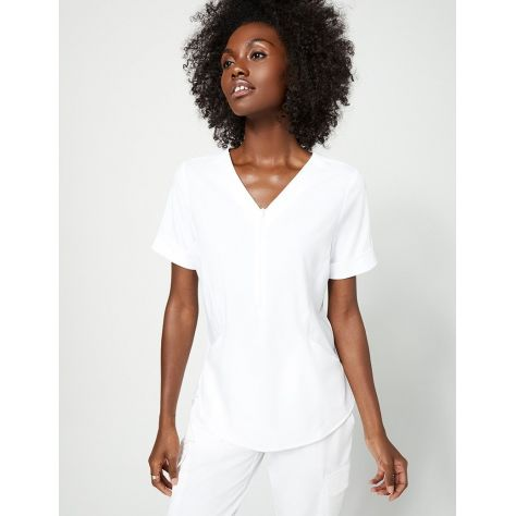 """Tunique Jaanuu """"Relaxed Cuff Sleeve Top"""" Blanc Collection Hudson"""