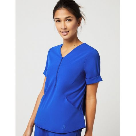 """Tunique Jaanuu """"Relaxed Cuff Sleeve Top"""" Bleu Royal Collection Hudson"""