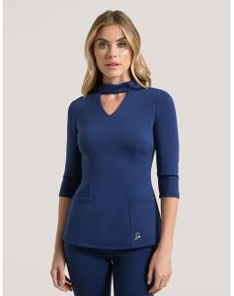 "Tunique Jaanuu ""Mock Neck Top"" Bleu Marine Collection Ponte"