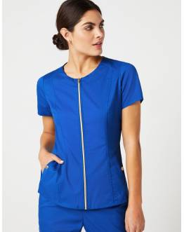 "Blouse Jaanuu ""Biker Top"" Bleu Royal Collection Jolie"