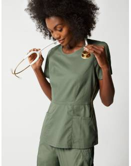 "Tunique Jaanuu ""Peplum Top"" Olive Collection Jolie"