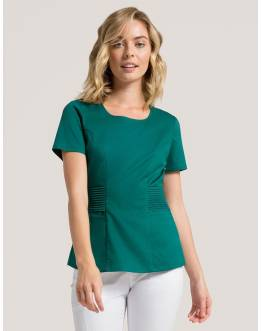 "Tunique Jaanuu ""Pintuck Top"" Vert Collection Jolie"