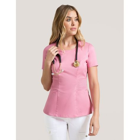 "Tunique Jaanuu ""Pintuck Top"" Rose Collection Jolie"