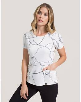 "Tunique Jaanuu ""Peplum Top"" Imprimé Marble Collection Prints"